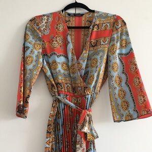 Regal patterned midi dress - worn once
